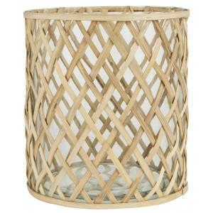 Glasskjuler m/bambus - stor
