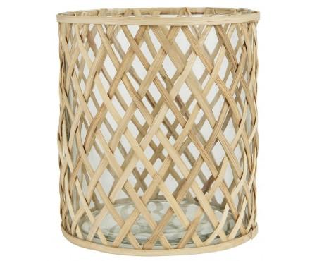 Glasskjuler m/bambus stor