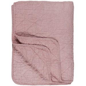 Quilt tæppe - hvide og røde striber