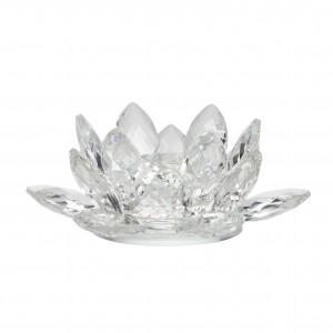 Fyrfadsstage Lotus - krystal