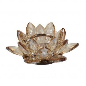 Fyrfadsstage Lotus - amber