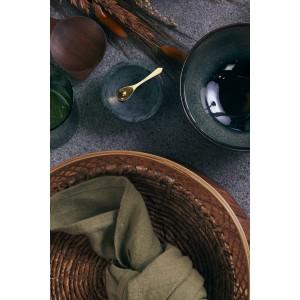 Marmorskål m/ske - grøn