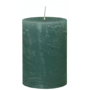 Rustic lys - oliven H: 10 cm