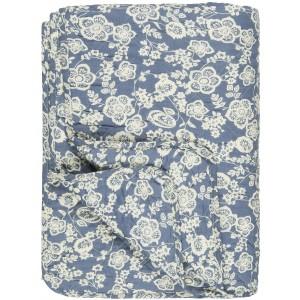 Quilt tæppe - blå m/mønster