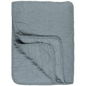 Quilt tæppe - blå m/prikker