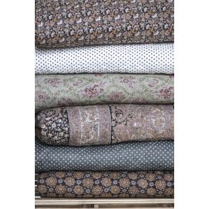 Quilt tæppe - sort m/mønster